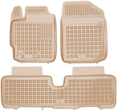 REZAW PLAST beżowe gumowe dywaniki samochodowe Toyota Yaris od 2005-2011r. 201409B/Z