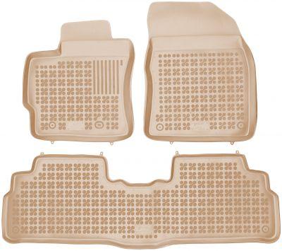REZAW PLAST beżowe gumowe dywaniki samochodowe Toyota Verso od 2009r. 201412B/Z