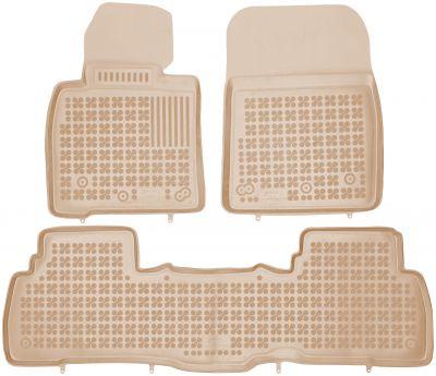 REZAW PLAST beżowe gumowe dywaniki samochodowe Toyota Land Cruiser J200 V8 od 2008r. 201413B/Z