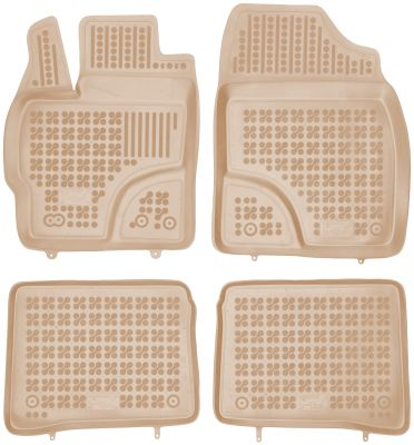 REZAW PLAST beżowe gumowe dywaniki samochodowe Toyota Prius III od 2009-2015r. 201415B/Z