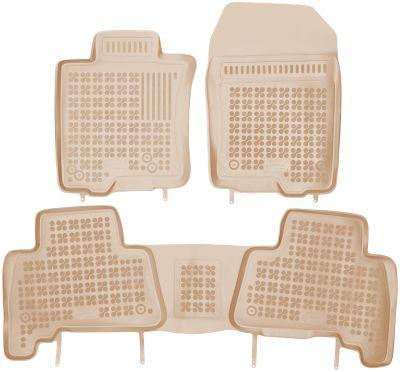 REZAW PLAST beżowe gumowe dywaniki samochodowe Toyota Land Cruiser J150 IV od 2010r. 201416B/Z