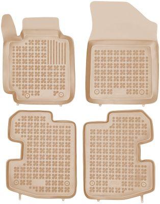 REZAW PLAST beżowe gumowe dywaniki samochodowe Toyota Yaris I 3-drzwiowe od 1998-2005r. 201417B/Z
