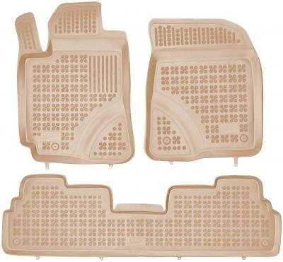 REZAW PLAST beżowe gumowe dywaniki samochodowe Toyota Corolla Vero II od 2004-2009r. 201418B/Z
