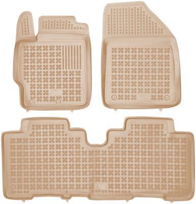 REZAW PLAST beżowe gumowe dywaniki samochodowe Toyota Verso S od 2010r. 201420B/Z