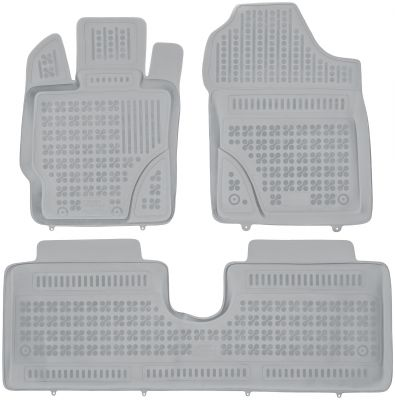 REZAW PLAST popielate gumowe dywaniki samochodowe Toyota Yaris III 5-drzwiowe od 2011r. 201421S/Z