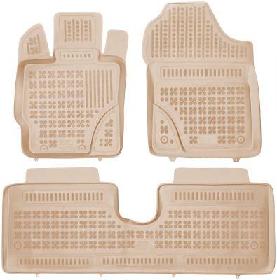 REZAW PLAST beżowe gumowe dywaniki samochodowe Toyota Yaris III 5-drzwiowe od 2011r. 201421B/Z