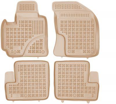 REZAW PLAST beżowe gumowe dywaniki samochodowe Toyota Rav4 5-drzwiowe od 2003-2005r. 201422B/Z
