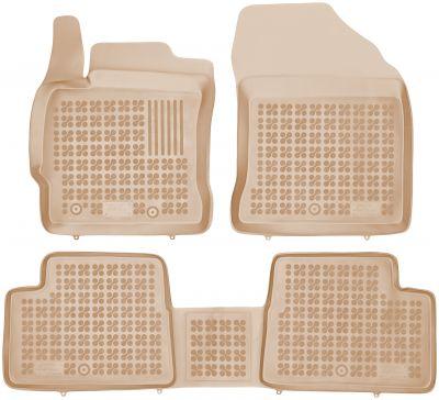 REZAW PLAST beżowe gumowe dywaniki samochodowe Toyota Auris II od 2012r. 201423B/Z