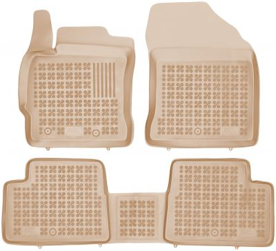 REZAW PLAST beżowe gumowe dywaniki samochodowe Toyota Auris Hybryda od 2012r. 201423B/Z
