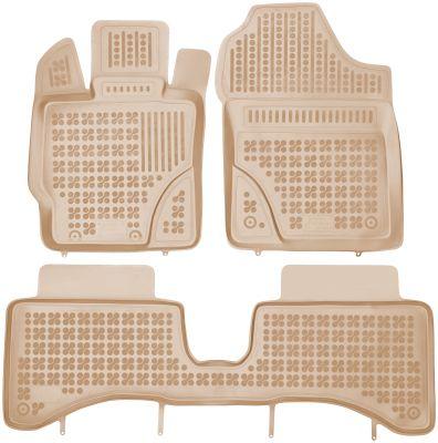 REZAW PLAST beżowe gumowe dywaniki samochodowe Toyota Yaris III Hybryda od 2012-2014r. 201424B/Z