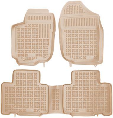 REZAW PLAST beżowe gumowe dywaniki samochodowe Toyota Rav4 IV od 2013r. 201425B/Z