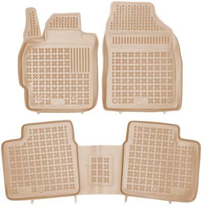 REZAW PLAST beżowe gumowe dywaniki samochodowe Toyota Corolla XI od 2012r. 201426B/Z