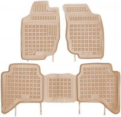 REZAW PLAST beżowe gumowe dywaniki samochodowe Toyota Hilux 4-drzwiowy od 2005-2015r. 201427B/Z