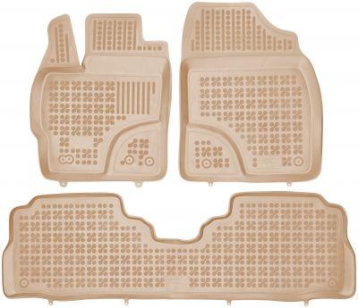 REZAW PLAST beżowe gumowe dywaniki samochodowe Toyota Prius + od 2011r. 201428B/Z