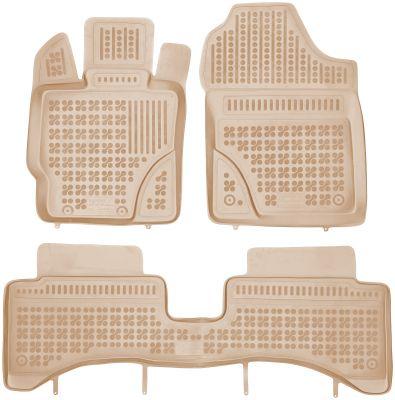 REZAW PLAST beżowe gumowe dywaniki samochodowe Toyota Yaris Hybryda od 2014r. 201430B/Z