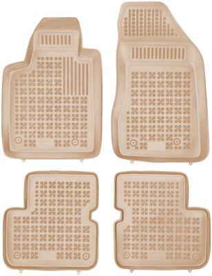 REZAW PLAST beżowe gumowe dywaniki samochodowe Fiat Bravo II od 2007r. 201501B/Z