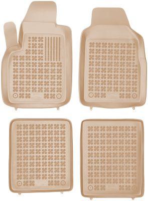 REZAW PLAST beżowe gumowe dywaniki samochodowe Fiat Panda II od 2003-2012r. 201502B/Z