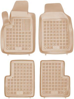 REZAW PLAST beżowe gumowe dywaniki samochodowe Fiat 500 od 2007r. 201503B/Z