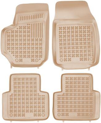 REZAW PLAST  beżowe gumowe dywaniki samochodowe Fiat Croma II od 2005r. 201504B/Z