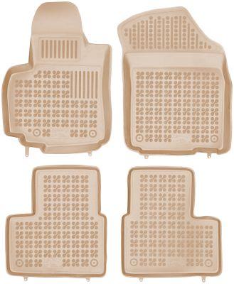 REZAW PLAST beżowe gumowe dywaniki samochodowe Fiat Sedici I od 2006r. 201505B/Z