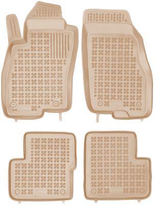 REZAW PLAST beżowe gumowe dywaniki samochodowe Fiat Grande Punto od 2005r. 201506B/Z