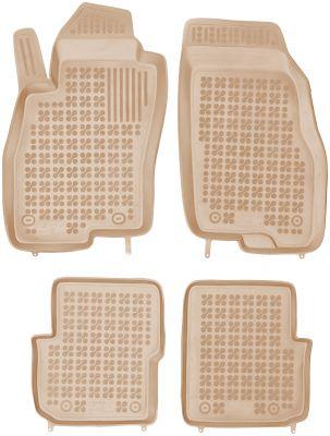 REZAW PLAST beżowe gumowe dywaniki samochodowe Fiat Punto Evo od 2009r. 201508B/Z