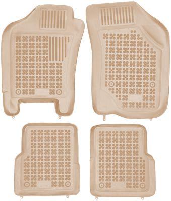 REZAW PLAST beżowe gumowe dywaniki samochodowe Fiat Albea od 2002r. 201510B/Z