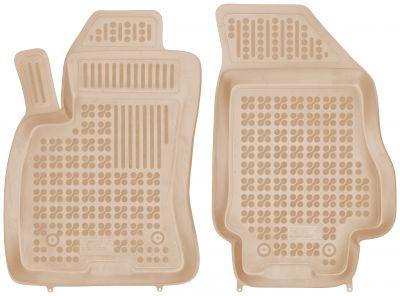 REZAW PLAST beżowe gumowe dywaniki samochodowe Fiat Doblo II 2-osobowe od 2009r. 201511B/Z