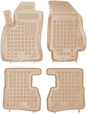 REZAW PLAST beżowe gumowe dywaniki samochodowe Fiat Doblo II 5-osobowe 7-osobowe od 2009r. 201512B/Z