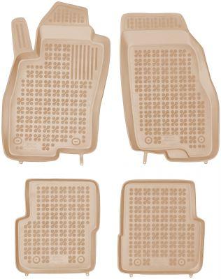 REZAW PLAST beżowe gumowe dywaniki samochodowe Fiat Punto III od 2012r. 201514B/Z