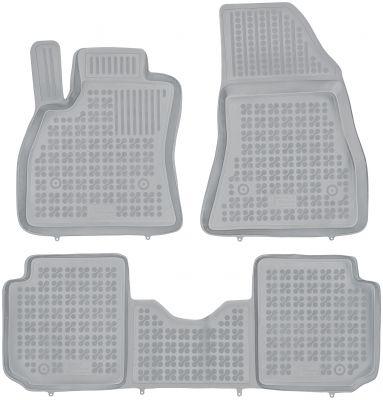 REZAW PLAST popielate gumowe dywaniki samochodowe Fiat 500L Living 7-osobowy od 2013r. 201516S/Z