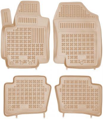 REZAW PLAST beżowe gumowe dywaniki samochodowe Hyundai i20 od 2008-2014r. 201602B/Z