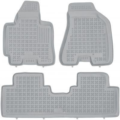 REZAW PLAST popielate gumowe dywaniki samochodowe Hyundai Tucson od 2004-2010r. 201604S/Z
