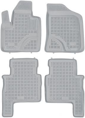 REZAW PLAST popielate gumowe dywaniki samochodowe Hyundai Santa Fe II od 2007-2012r. 201606S/Z