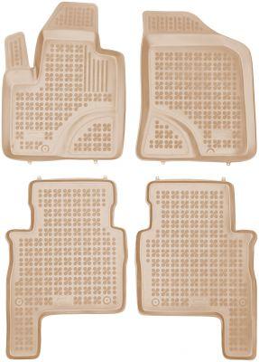 REZAW PLAST beżowe gumowe dywaniki samochodowe Hyundai Santa Fe II od 2007-2012r. 201606B/Z
