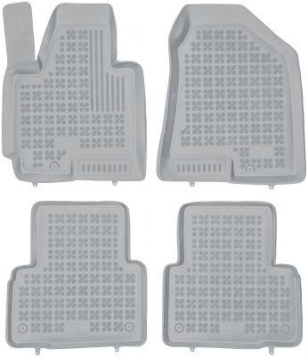 REZAW PLAST popielate gumowe dywaniki samochodowe Hyundai ix35 od 2010r. 201607S/Z