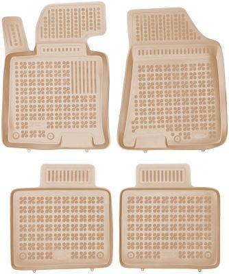 REZAW PLAST beżowe gumowe dywaniki samochodowe Hyundai i40 od 2011r. 201611B/Z