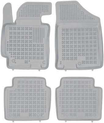 REZAW PLAST popielate gumowe dywaniki samochodowe Hyundai Elantra V/VI od 2010-2016r. /od 2016r. 201612S/Z