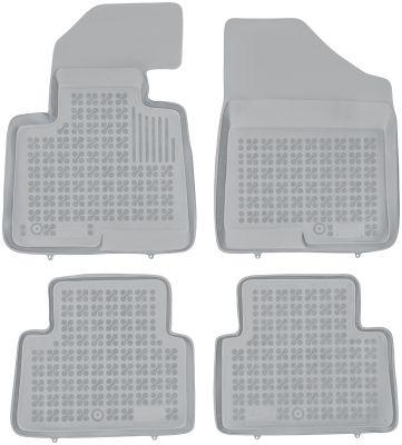 REZAW PLAST popielate gumowe dywaniki samochodowe Hyundai Santa Fe III od 2012r. 201614S/Z