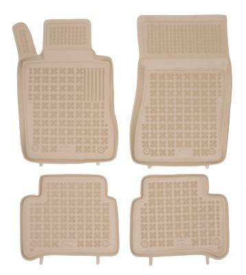 REZAW PLAST beżowe gumowe dywaniki samochodowe Mercedes E-Klasa W211 od 2002-2009r. 201702B