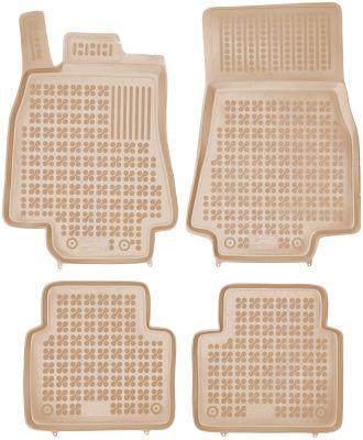 REZAW PLAST beżowe gumowe dywaniki samochodowe Mercedes B-Klasa W245 od 2005-2011r. 201705B/Z