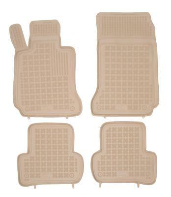 REZAW PLAST beżowe gumowe dywaniki samochodowe Mercedes C-Klasa W204 od 2007-2014r. 201706B