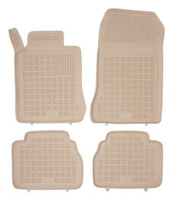 REZAW PLAST beżowe gumowe dywaniki samochodowe Mercedes E-Klasa W210 od 1995-2003r. 201708B