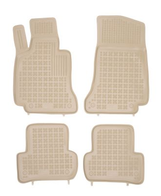 REZAW PLAST beżowe gumowe dywaniki samochodowe Mercedes C-Klasa W205 od 2014r. 201720B