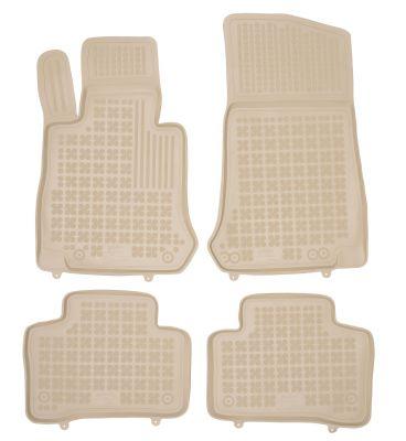 REZAW PLAST beżowe gumowe dywaniki samochodowe Mercedes GLC od 2015r. 201722B
