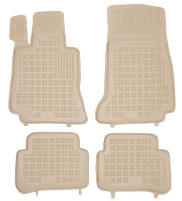 REZAW PLAST beżowe gumowe dywaniki samochodowe Mercedes E-Klasa W213 od 2016r. 201723B