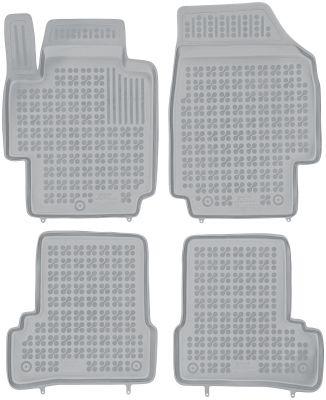 REZAW PLAST popielate gumowe dywaniki samochodowe Nissan Micra K12 od 2007-2010r. 201801S/Z