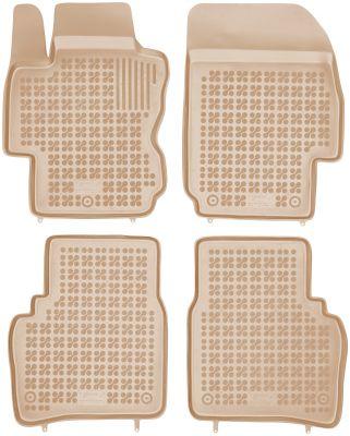 REZAW PLAST beżowe gumowe dywaniki samochodowe Nissan Note od 2006-2013r. 201802B/Z