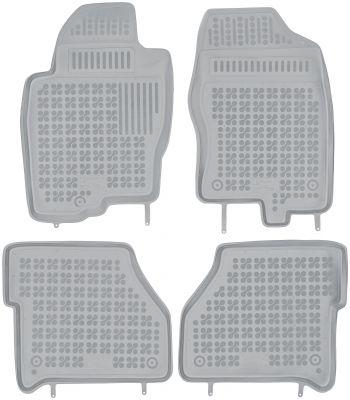 REZAW PLAST popielate gumowe dywaniki samochodowe Nissan Navara od 2005r. 201803S/Z