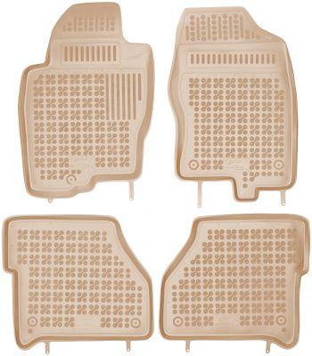 REZAW PLAST beżowe gumowe dywaniki samochodowe Nissan Navara od 2005r. 201803B/Z